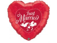 Jumbo hart Just Married Folieballon