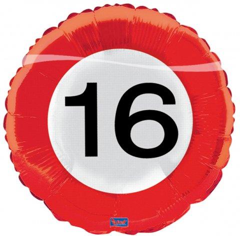 Verkeersbord  ballon 16 Folieballon foto