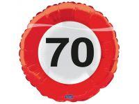 Verkeersbord ballon 70 Folieballon