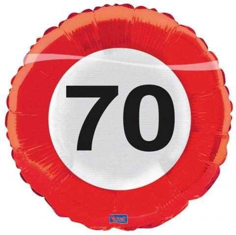 Verkeersbord ballon 70 Folieballon foto