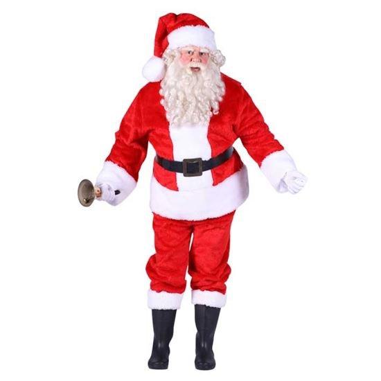 Kerstman kostuum pluch foto