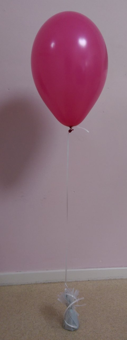 Helium ballon decoratie met gewichtje foto