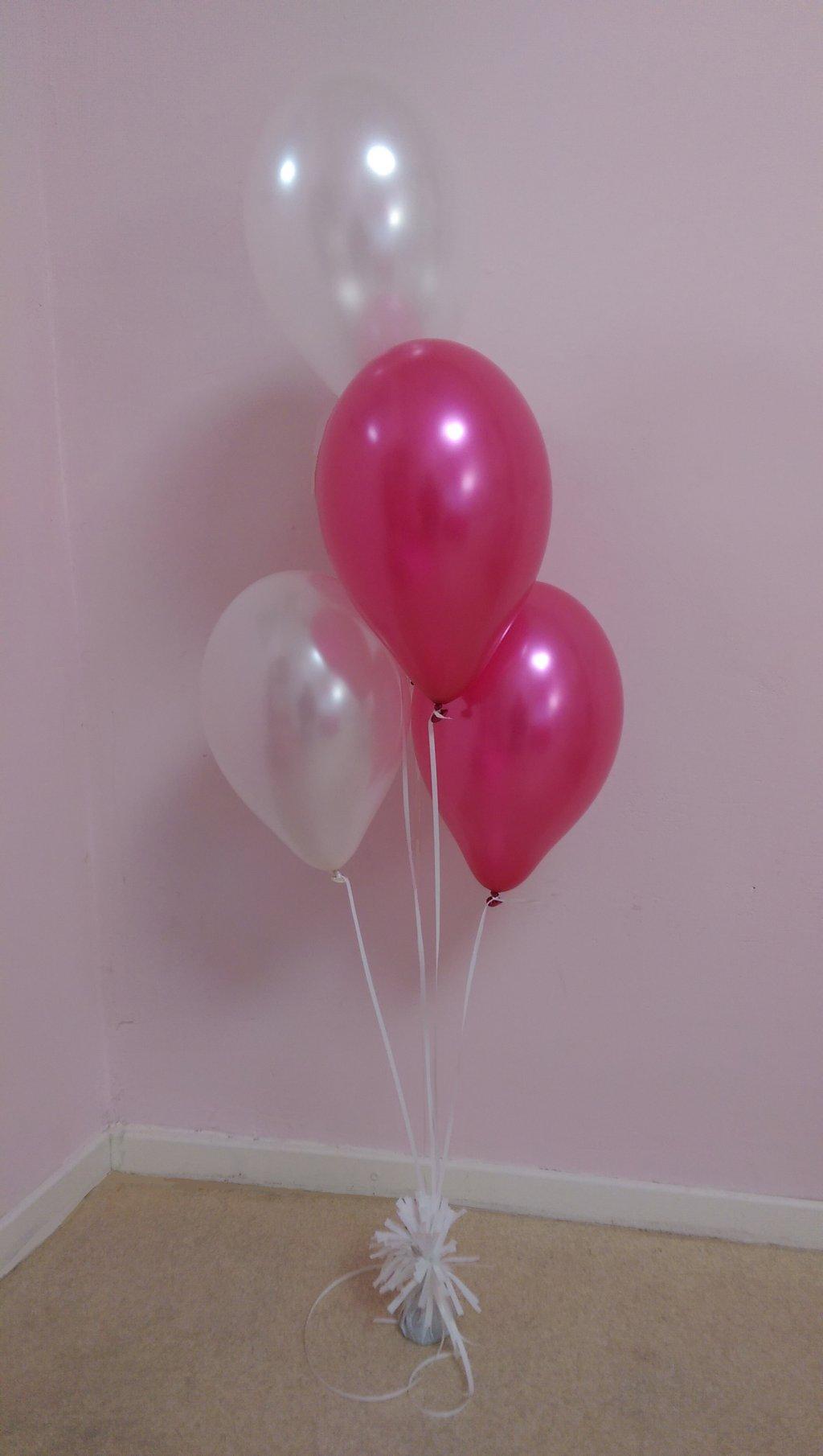 Helium ballon decoratie 4st met gewichtje foto