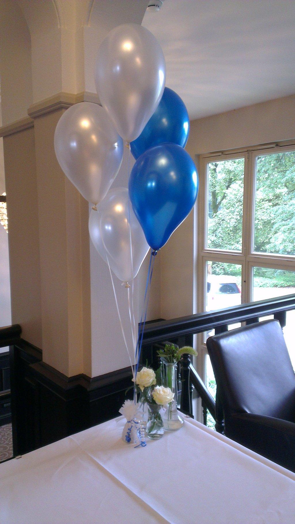 Helium ballon decoratie 5st met gewichtje foto