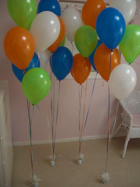 Helium ballon decoretie 6st met gewichtje foto