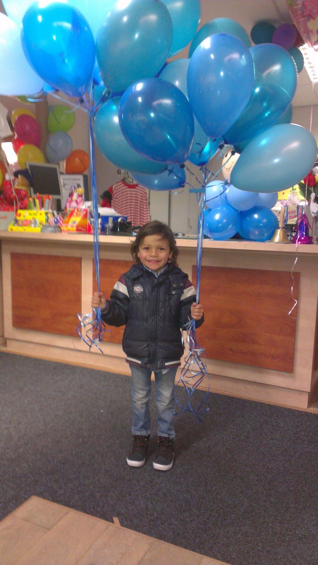 Helium ballon decoratie 10st met gewichtje foto