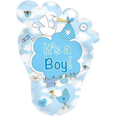 baby voet blauw folieballon foto
