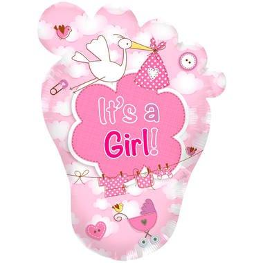 baby voet rose folieballon foto