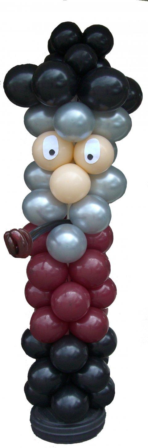 Abraham ballon zuil foto