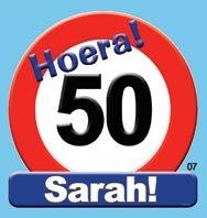 Huldeschild Sara 50 foto