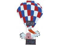 Ooievaar in rwb ballon