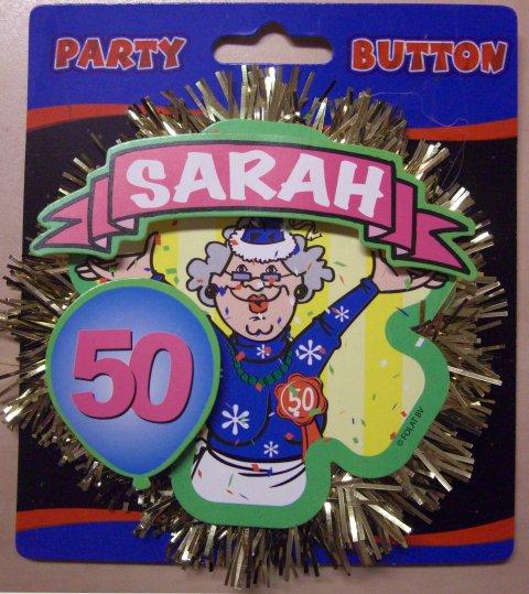 Rozet button voor Sara foto