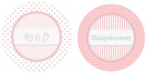 Babyshower borden Meisje 10 stuks foto