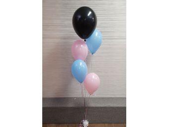 Gender reveal ballon blanco