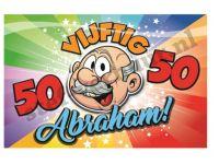 Abraham schild 3D rainbow