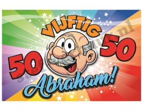 Abraham schild 3D rainbow foto