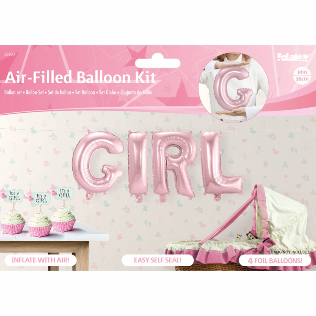 Girl folie ballonnen foto