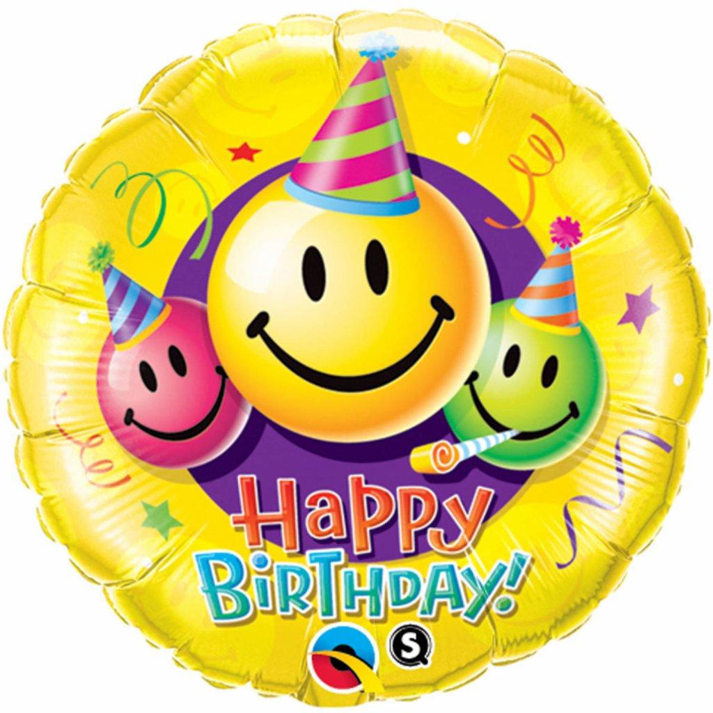 Emoticon Happy birthday smiley faces 45cm foto