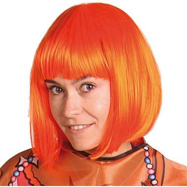 Bobline oranje pruik foto