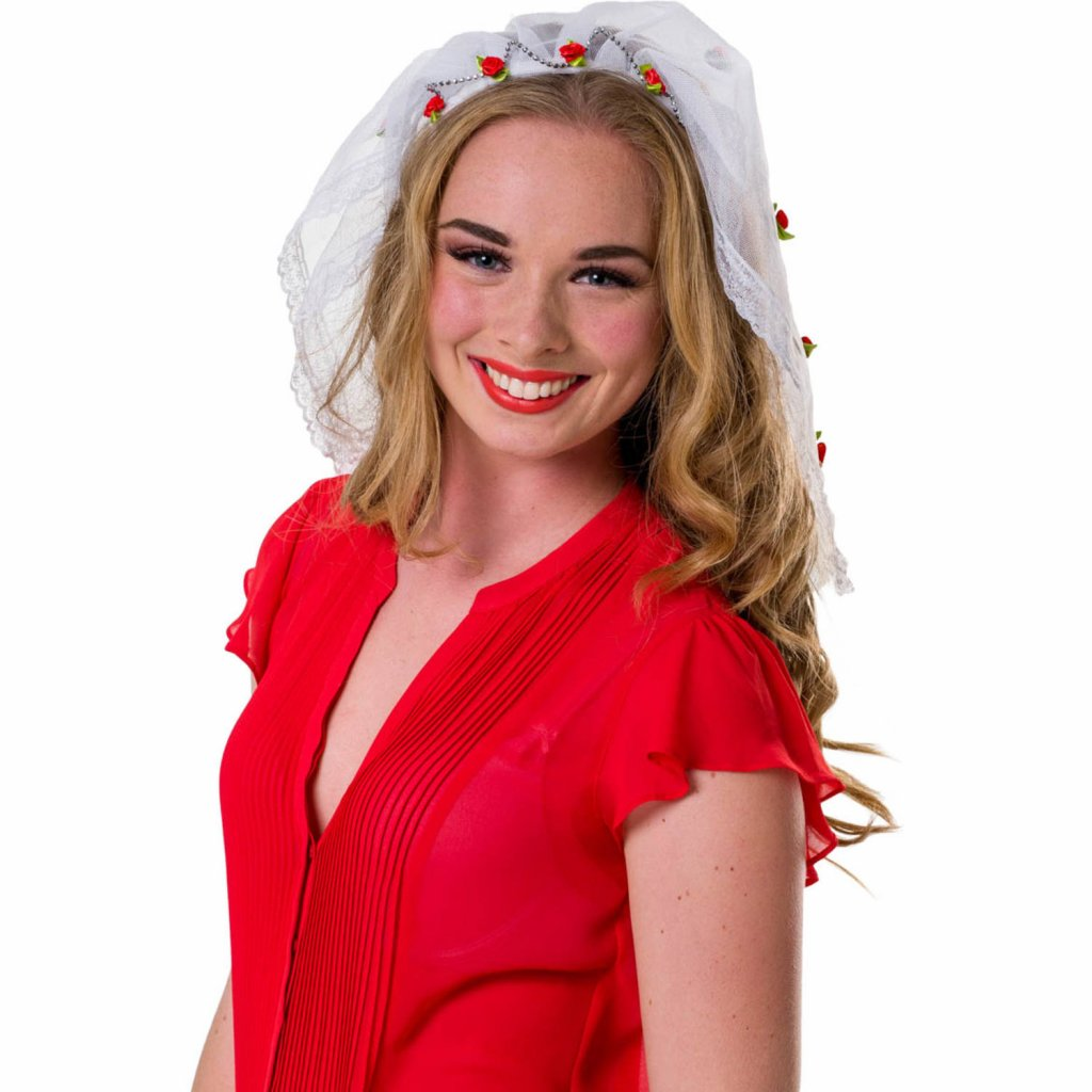 Witte tiara bruid Bachelorette foto