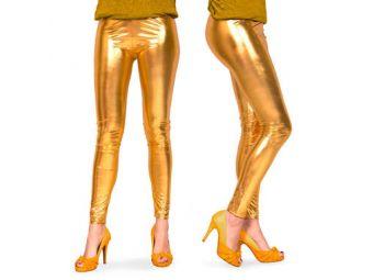 legging metallic goud