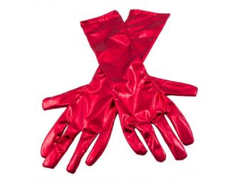 handschoenenmetallic rood