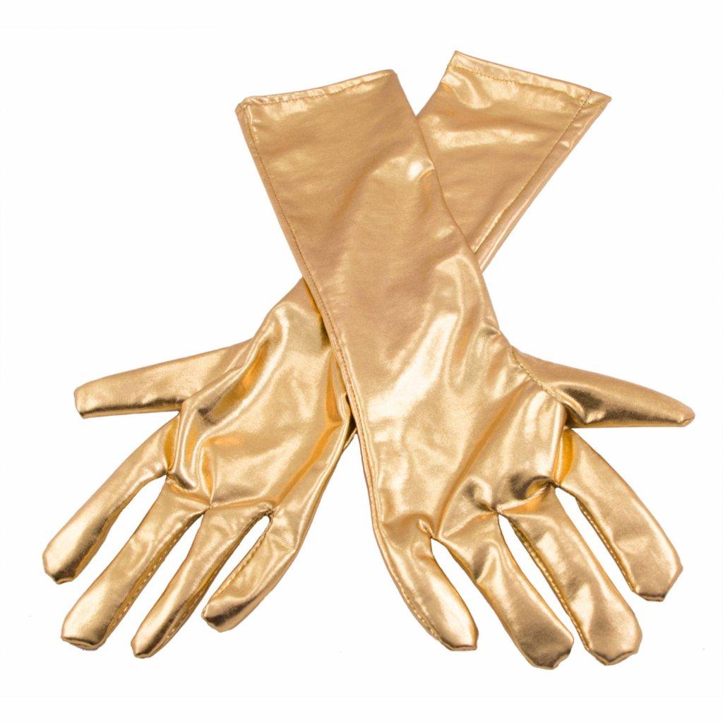 handschoenen metallic goud foto