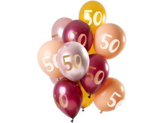ballonnen 50 jaar roze goud