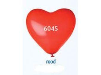 Helium hart ballon rood