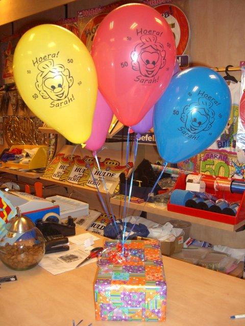 10 ballonnen Sarah foto
