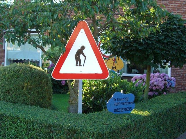 Verkeersbord driehoek S foto