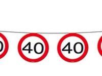 Vlaggenlijn verkeersbord 40