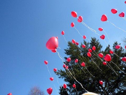Helium hart  ballonnen per st foto