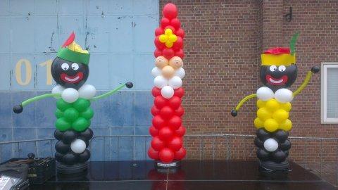 Sinterklaas ballonzuil foto