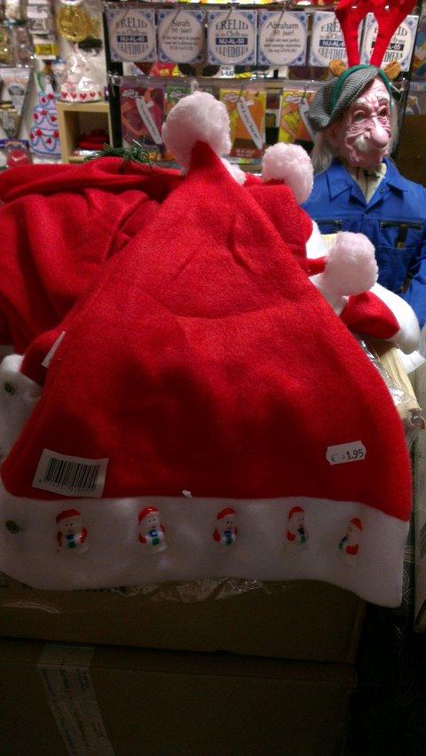Kerstmuts met lampjes foto