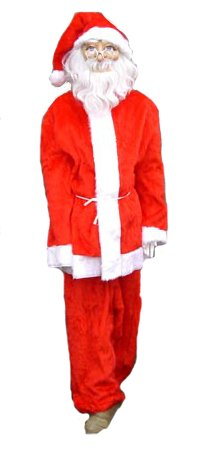 Kerstman outfit, pak foto